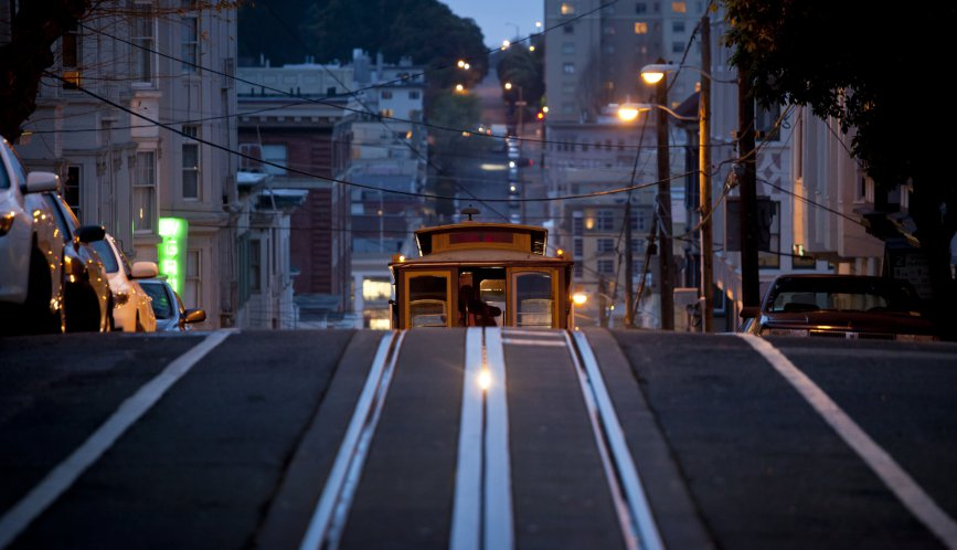 Approaching Cable Car